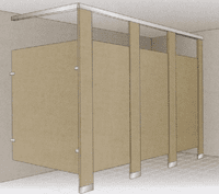 Floor Mounted / Overhead Braced Metal Stalls
