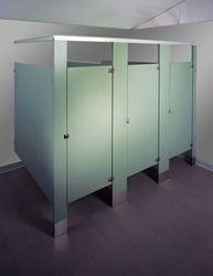 Floor Mounted / Overhead Braced Plastic Laminate Restroom Partitions