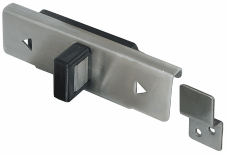 Latch & Keeper, Surface Mounted, Satin Stainless Steel