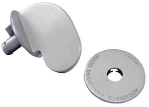 Old Style ADA Latch Knob and Cover Set in Stainless Steel