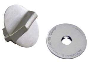 Old Style Latch Knob and Cover Set in Stainless Steel