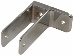 """One Ear Urinal Screen Bracket - 1.5"""" High - For 1"""" to 1 1/4"""" Thickness"""