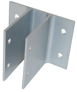 "3"" High Two Ear Aluminum Bracket for 1"" Thick Panel/Pilaster"
