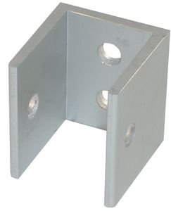 "1.5"" High 'U' Aluminum Bracket for 1"" Thick Panels/Pilasters"