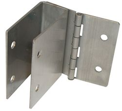 """Partition Hinged 1 Ear Bracket - 3"""" High - 1"""" to 1 1/4"""" Width"""