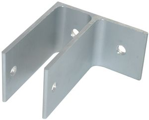 "1.5"" High One Ear Aluminum Bracket for 3/4"" to 1 1/4"" Wide Pilasters/Panels"