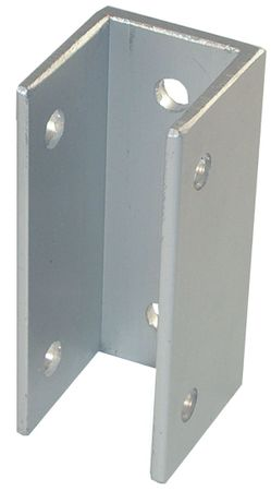 """3"""" High Aluminum 'U' Bracket for 1"""" Thick Pilasters or Panels"""