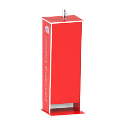 Free Standing Mobile Plastic Sanitizing Station