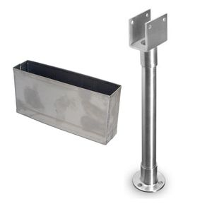 Stainless Steel Pilaster Shoes and Braces