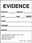"""Small Evidence Label, 2 X 2"""""""