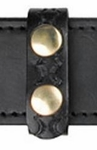 """Leather Belt Keeper, 3/4"""", Two Snaps"""