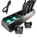 Universal 6 Cup 2way Radio/Battery Rapid Charging Station