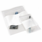 Zip-Top Evidence Bags, Write-On Area, 4 mill,  Pack of 100