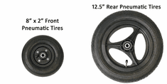 "Convaid 8x2"" Front, 12.5"" Rear Pneumatic Tires"