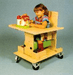Kaye Products Bolster Chair with Tray & Casters Elementary