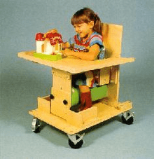 Kaye Products Bolster Chair with Tray & Casters Preschool