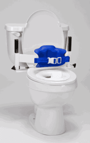 Contoured Wrap-Around Padded Lo-Back Toilet Support, Large