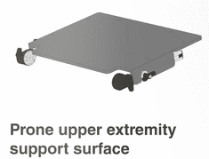 Jenx LT Stander Prone Tray & Support Arms - SIZE