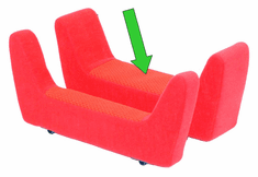 Convaid Seat Extension - 4 inch