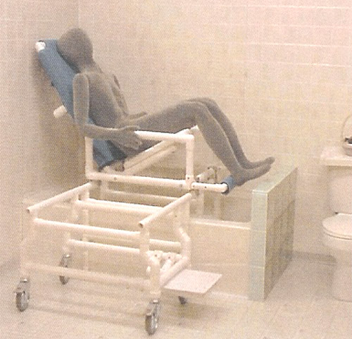 Integrated Custom Concepts Tilt-In-Space Slider Bath Chair/Shower Chair   Adaptivemall.com