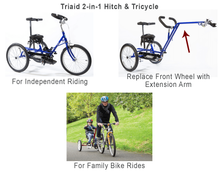 Triaid 2-in-1 Hitch & Tricycle - Trail Behind Tricycle