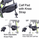 Zing MPS Calf Pad with Knee Strap<br>(Calf Pad with Knee Strap CANNOT be used with the Mast with Leg Abduction Feature)