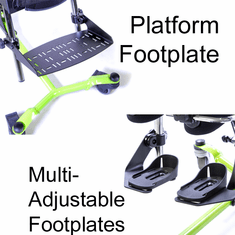 EasyStand Zing MPS Platform Foot Plate (Platform Footplate CANNOT be used with the Mast with Leg Abduction Feature)