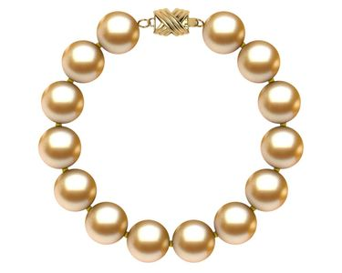 10 to 11mm Golden South Sea Pearl Bracelet