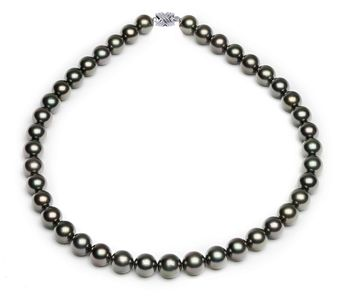 10 x 11.3mm Medium Peacock Tahitian Pearl Necklace