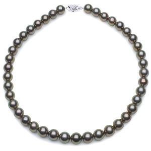 10 x 11.3mm Peacock Tahitian Pearl Necklace