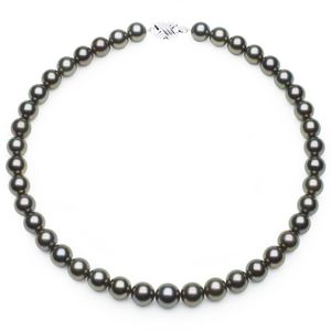 10 x 11.4mm Peacock Tahitian Pearl Necklace