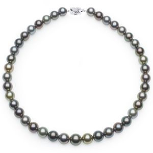 10 x 11.7mm Multicolor Tahitian Pearl Necklace