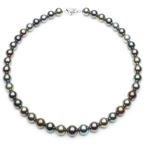 10 x 12mm Multicolor Tahitian Pearl Necklace