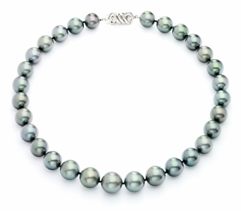 11.75mm x 14mm Tahitian Blue Pearl Necklace