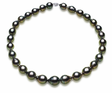11 x 13mm Tahitian South Sea Peacock Baroque Pearl Necklace