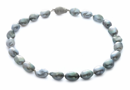 12.1 x 13.9mm Tahitian Baroque Pearl Necklace