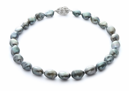 12.1 x 15.8mm Tahitian Baroque Pearl Necklace