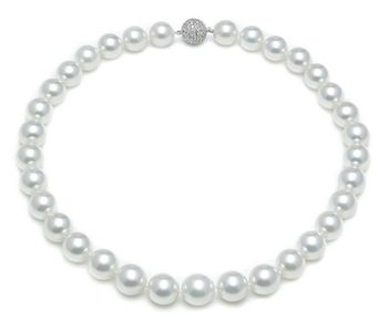 12.1mm x 14.3mm White South Sea Pearl Necklace