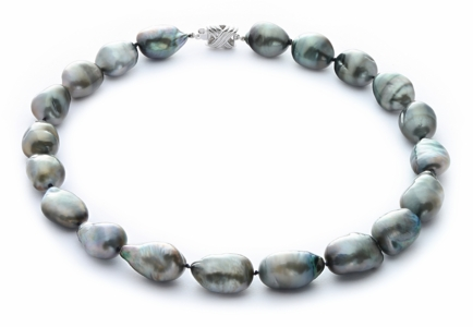 12.2 x 13.9mm Tahitian Baroque Pearl Necklace