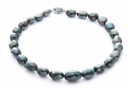 12.5 x 15.7mm Tahitian Baroque Pearl Necklace