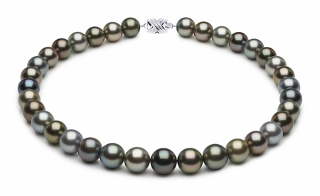 12 x 14.3mm Multicolor Tahitian Pearl Necklace