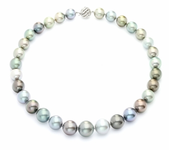 12 x 15.9mm Tahitian Pastel Multicolor Pearl Necklace