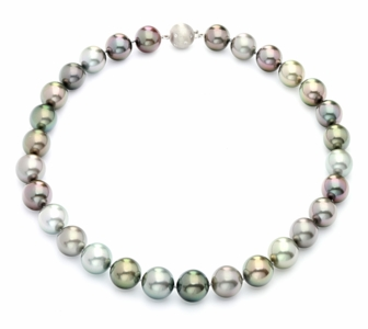 13.3 x 15mm Tahitian Pastel Multicolor Pearl Necklace