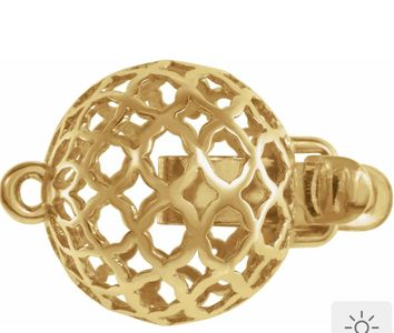 14K Gold Pattern Clasp 10mm