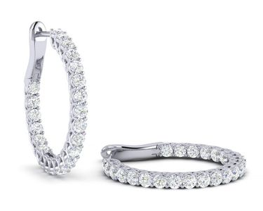 2.0 Carat Diamond Hoop Earring