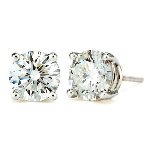 .25 Carats White Gold Stud Earrings
