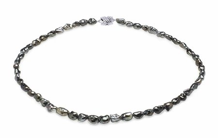 5mm Grey Keshi Tahitian Pearl Necklace