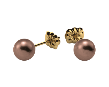 6.0 mm Mocha Pearl Earrings