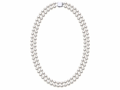 6.5-7.0 mm Double-Strand White Akoya Pearl Necklace