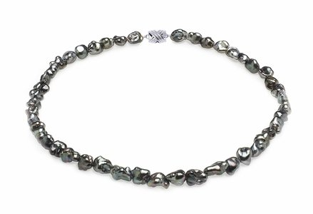 7mm Dark Keshi Tahitian Pearl Necklace